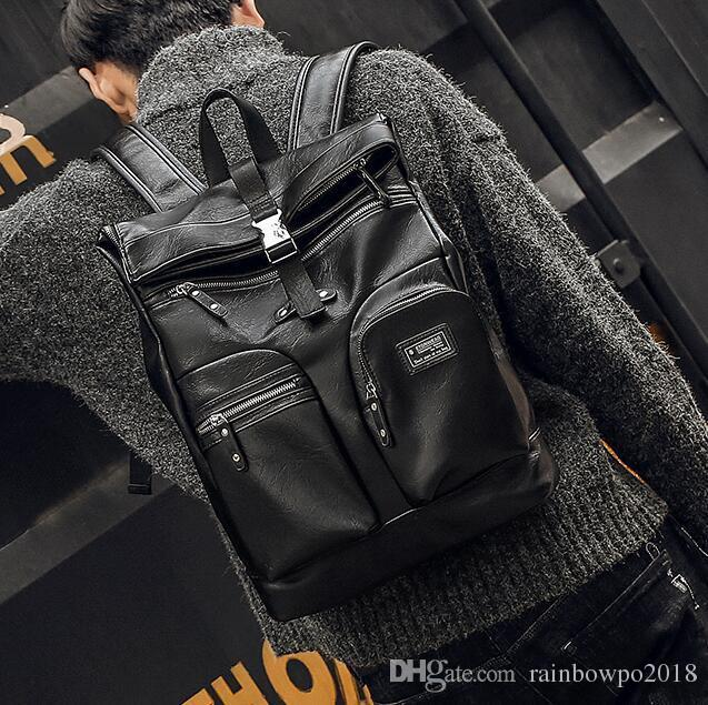 Outlet Brand Men Handbag Multi Functional Leather Student Bags Multi  Compartment Large Capacity Computer Bag Outdoor Travel Leisure Leath  Designer Backpacks ... 8e610f907dd37
