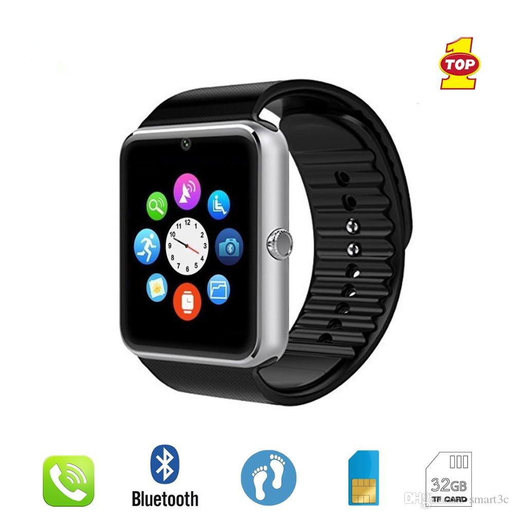 Smart Watch GT08 Clock Sync Notification Support Sim TF Card Bluetooth  Connectivity Android Phone Smartwatch Alloy Smartwatch