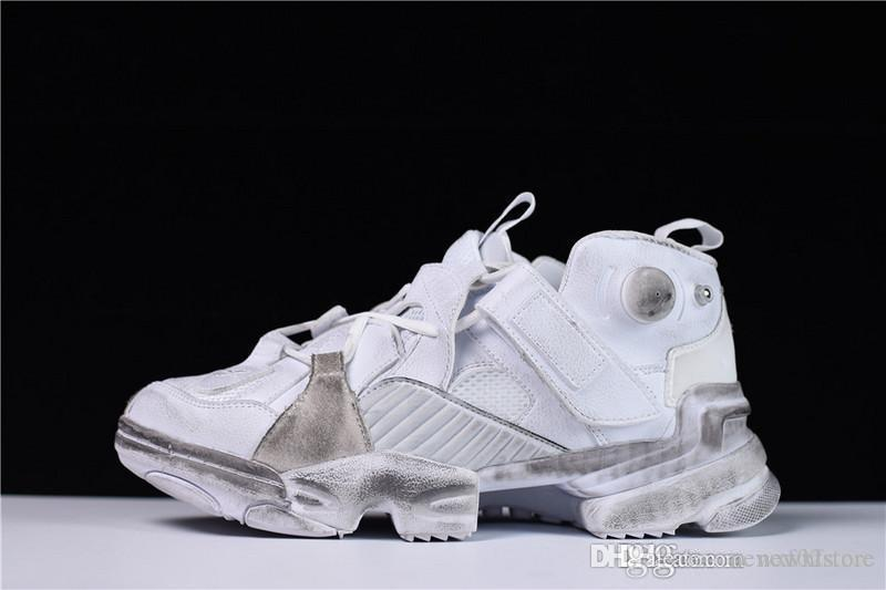 f3d7d53d9b85d3 2018 AAA+ Quality Vetements White RBK Edition Genetically Modified Pump  Fury Sneakers With Original Box Size  36 44 Walking Shoes Flat Shoes From  ...