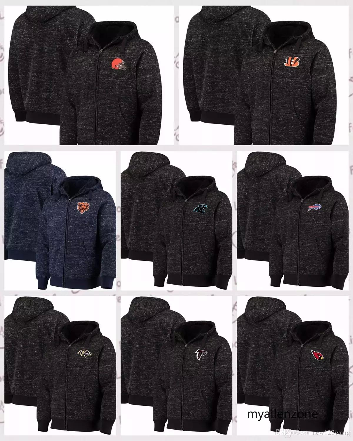 2019 Buffalo Bills Cleveland Browns Chicago Bears Cincinnati Bengals G III  Sports By Carl Banks Discovery Sherpa Full Zip Jacket Heathered Black From  ... ff6a0c77b