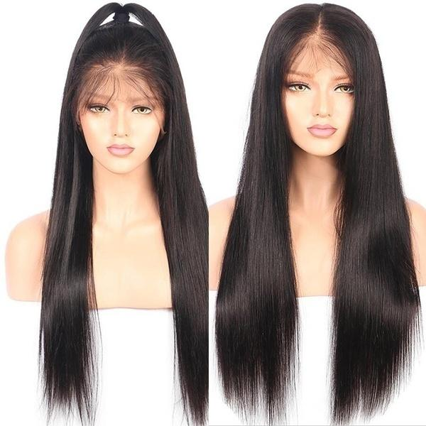 Heat Resistant Fiber Swiss Lace Synthetic Wig Can Make Ponytail Black Color Long Silk Straight Synthetic Lace Front Wigs for Black Women