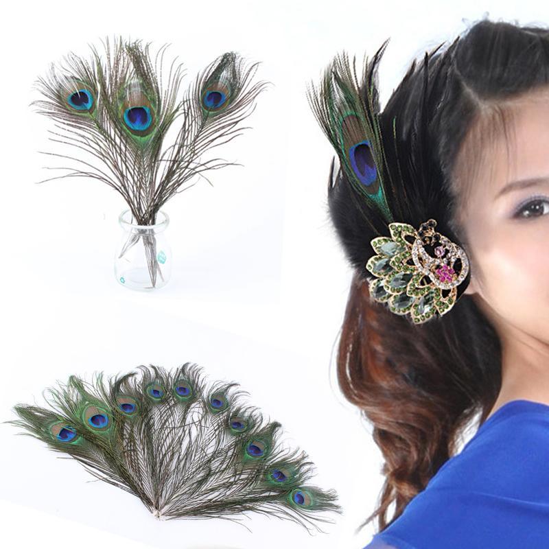20 PCS Qualidade 25-30 CM pavão pena olho jóias acessórios de decoração artesanal natural jóias DIY bagagem vestuário