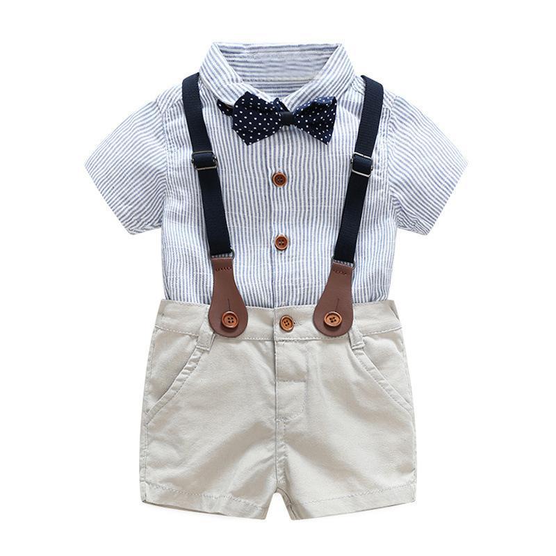 e4aebe87f Compre Ropa Para Bebés Niños Para El Verano 1 2 3 Años Para Niños Vestido  De Novia Conjunto De Ropa De Niño Guapo A  34.6 Del Xiaocao07