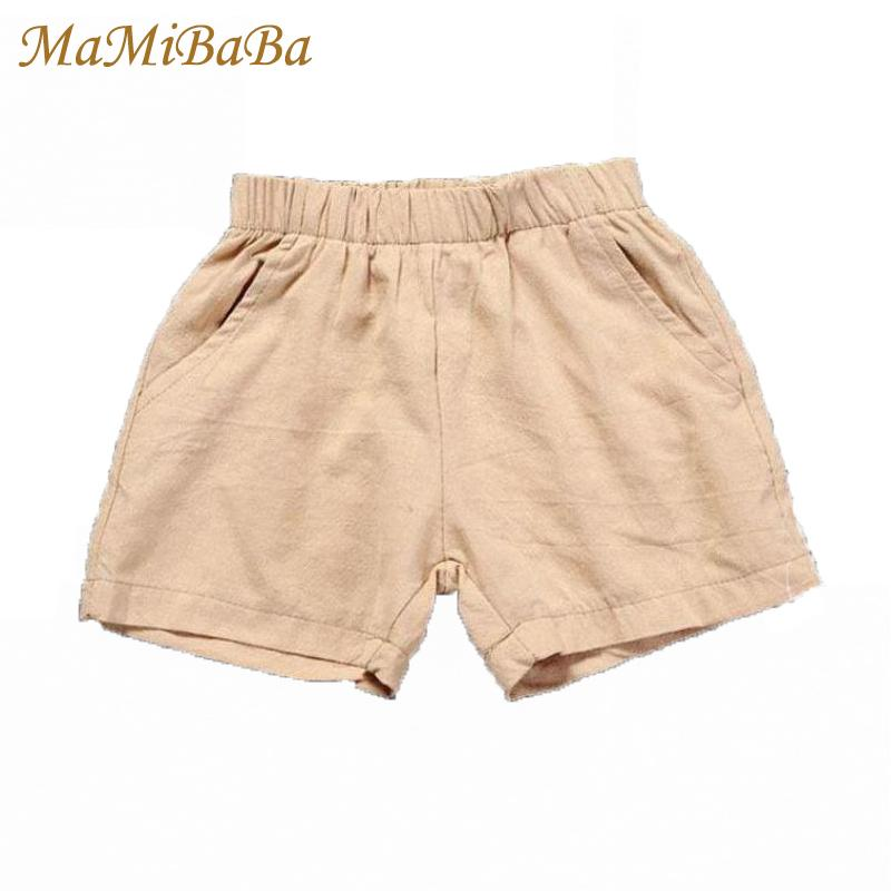 98cc90fb151 Kids Baby Girls Boys Shorts 2019 New Summer Solid Cotton Casual Mia Elastic  Waist Short Pants For 1 8 Years Child Clothing Sh018 Girls Black Sports  Shorts ...