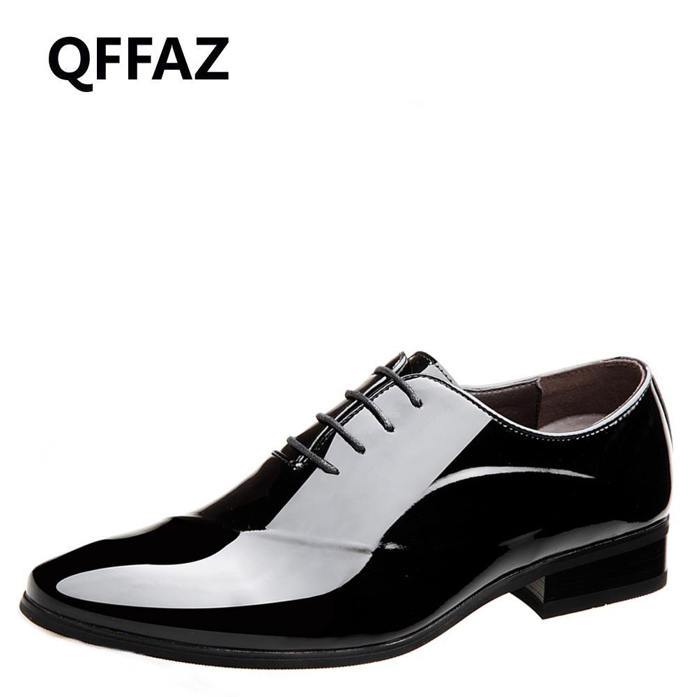37ea74ce3f6 QFFAZ Patent Leather Oxford Shoes For Men Dress Shoes Men Formal ...