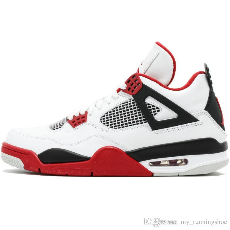 4acd192a153b 2019 2019 New Jumpman IV 4 White Blue Orange Claret Fire Red Black Basketball  Shoes For Top Quality 4s Trainers Mens Sports Sneakers Size7 12 From ...