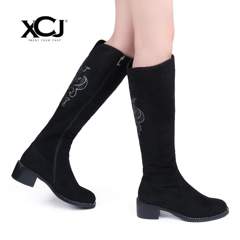 931deb5ef Compre 2019 Sapatos De Inverno Das Mulheres Na Altura Do Joelho Botas De  Cano Alto Plus Size Grande De Alta Qualidade Camurça Do Falso Da Marca  Mulheres ...