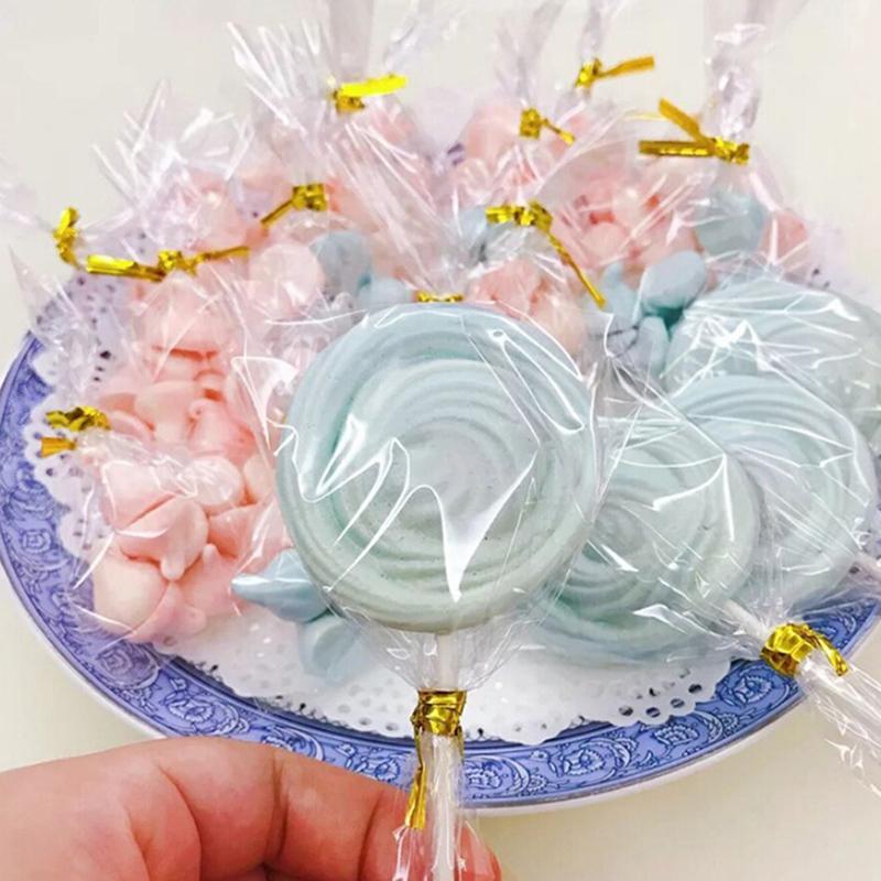 58843642a Compre 100 Unids Transparente Planas Pequeñas Bolsas De Plástico Caramelo  Lollipop Cookies Embalaje Celofán Bolsa De Boda Decoraciones Del Banquete  De Boda ...