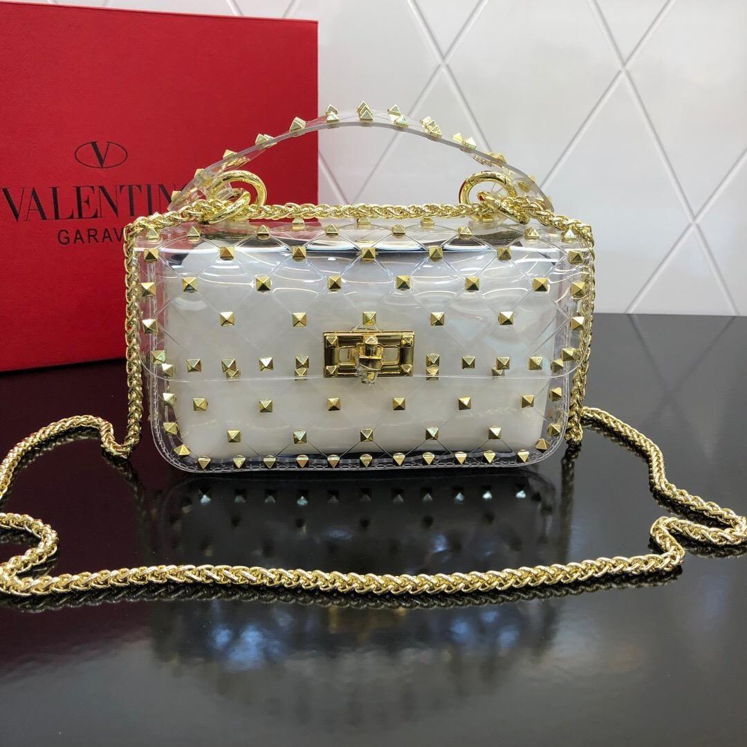 bb1e8f379fe7 Luxury Satchel Handbag Women Bag Clear Jelly Transparent PVC Bag Candy  Color Tote Designer Purse summer Female Crossbody