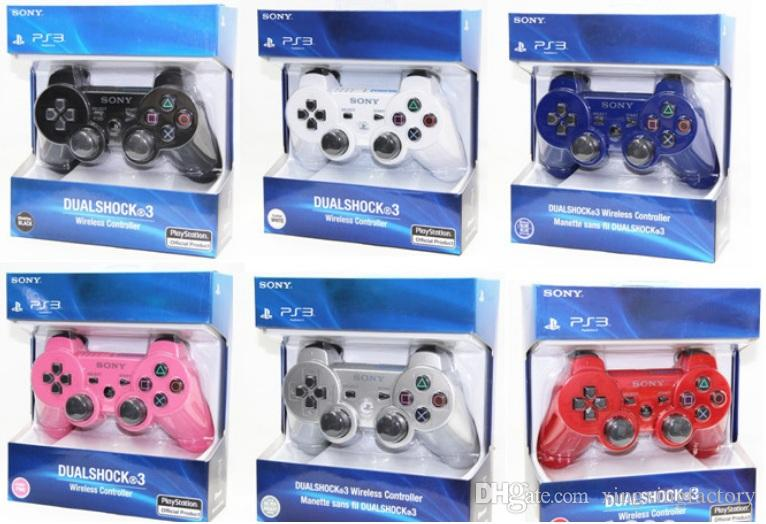 Venta al por mayor Bluetooth Wireless ps3 Game Controller para Sony Dualshock Playstation 3 Consola PS3 Videojuegos Joystick Gamepad con caja al por menor