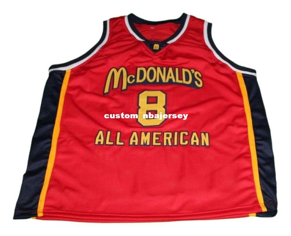 6ce95964f442 2019 Wholesale Kobe Bryant  8 McDonald S All American Basketball Jersey Red  Stitched Custom Any Number Name MEN WOMEN YOUTH BASKETBALL JERSEYS From ...