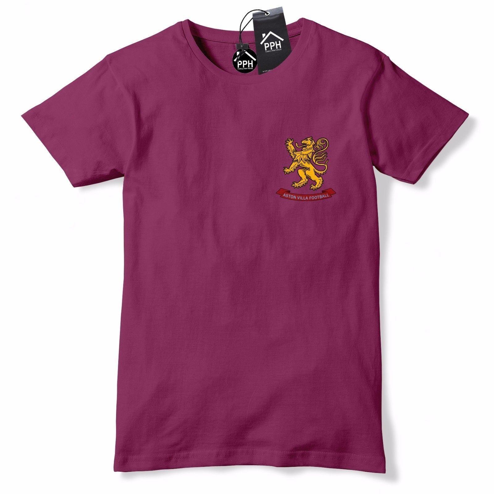 Compre Insignia De Fútbol Retro Aston Villa Camisa 1950 Claret Azul Camiseta  Escudo De Armas 591 Envío Gratis Divertido Camiseta Unisex A  12.96 Del ... 7d553c839275b