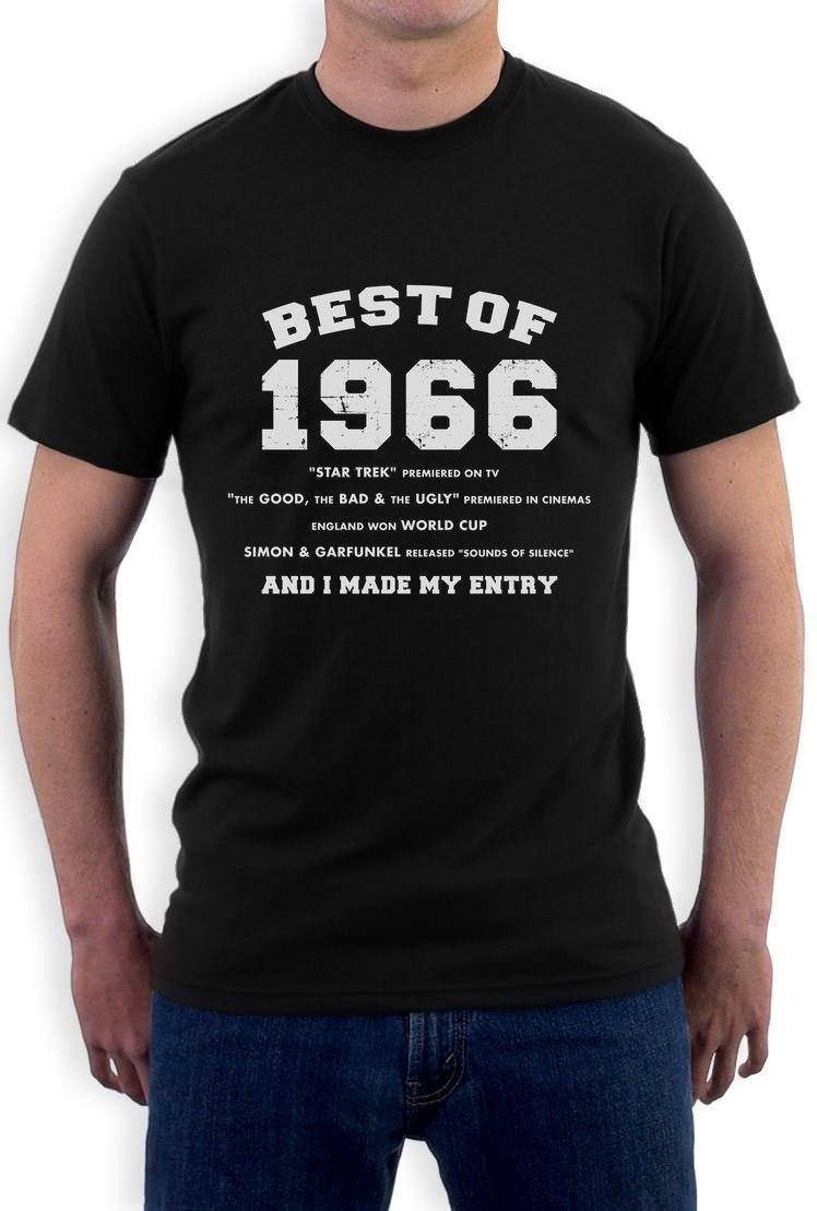 Best Of 1966 50th Birthday Gift Idea T Shirt History Facts Party Shirts Collared From Jie52 1467
