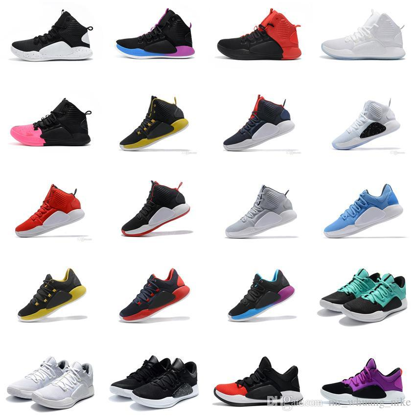 new style eae64 82561 Men Retro hyperdunk 2018 HD 10 X basketball shoes sale BHM Blue Oreo Black  Red Pink USA Aunt Pearl KD Hyperdunks sneakers tennis with box