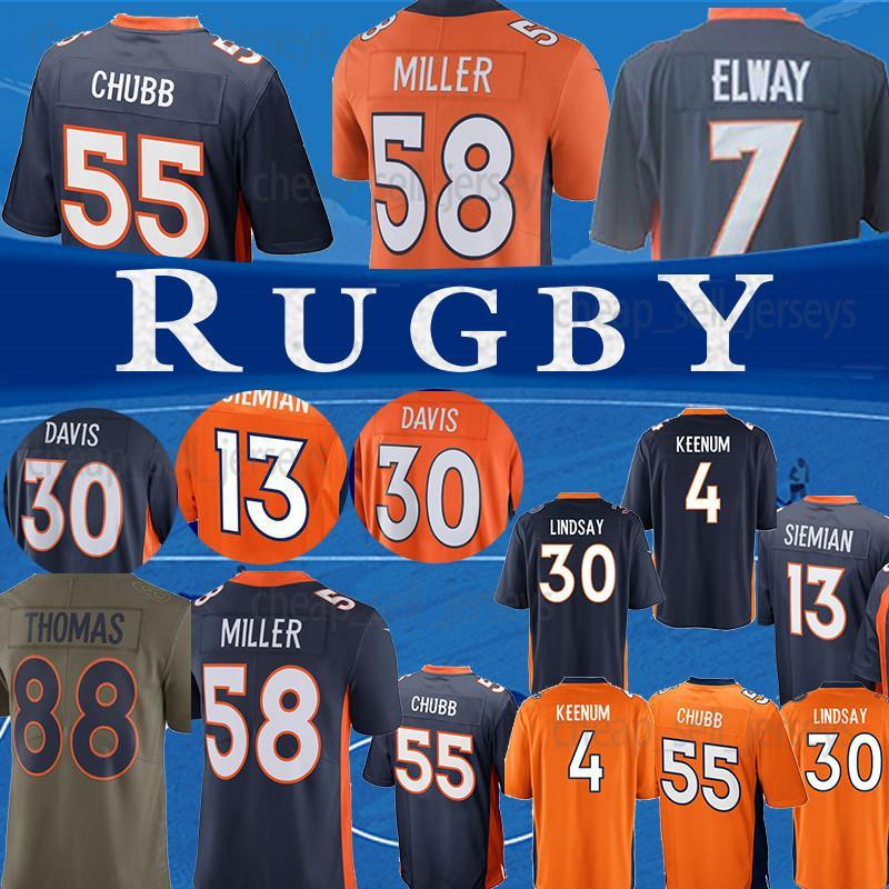 newest 8bc00 edbf5 Denver Jersey Broncos 58 Von Miller 55 Bradley Chubb 30 Phillip Lindsay 4  Case Keenum 7 John Elway Terrell Davis 14 Sutton