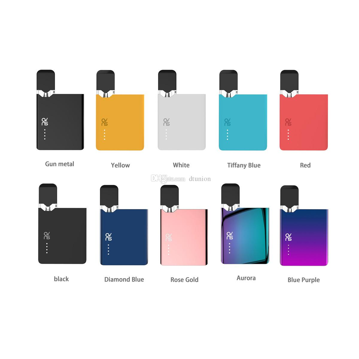 Colorful Authentic OVNS JC01 Pod Starter Kit 400mAh with Slim card-shaped appearance compatible with JC01 Ceramic Tank JC01 E-liquid Pods