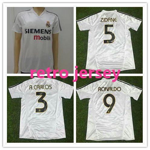 2004 2005 Real Madrid Jersey Retro Vintage Classic 04 05 ZIDANE ... 0fd6be43dbba9