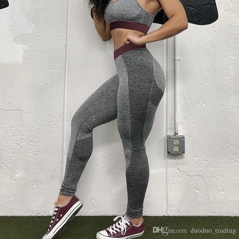 5f23b8f6af 2019 Female Yoga Pants Sport Leggings Gym Women Tight Patchwork Leggings  For Fitness Push Up Trouser High Elastic Workout Running Pants From  Duoduo_trading, ...