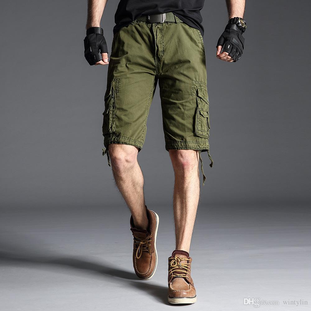 75b4ca5a18 Compre Verano 2019 Nuevos Hombres Pantalones Cortos De Carga De ...