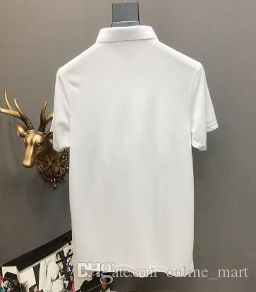 2020 Breathable Men's Solid Polo Shirts Dragon Collar Italy Desiger Polos Men Quick Drying T-shirt Male Clothes Jerseys For Golf Tennis