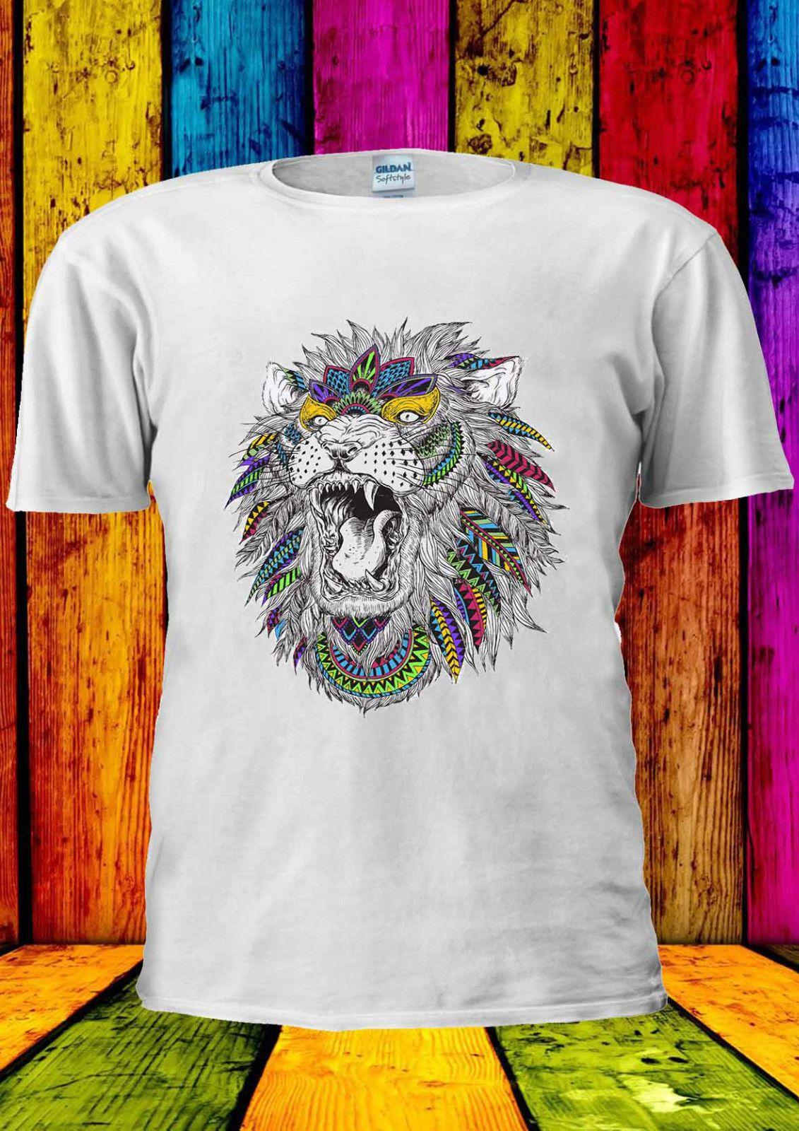 b040326b1 Abstract Lion Roaring Fashion Tumblr T Shirt Vest Tank Top Men Women Unisex  2120 Cheap Tee Fashion Style Men Tee Designs Shirts Interesting T Shirt  Designs ...