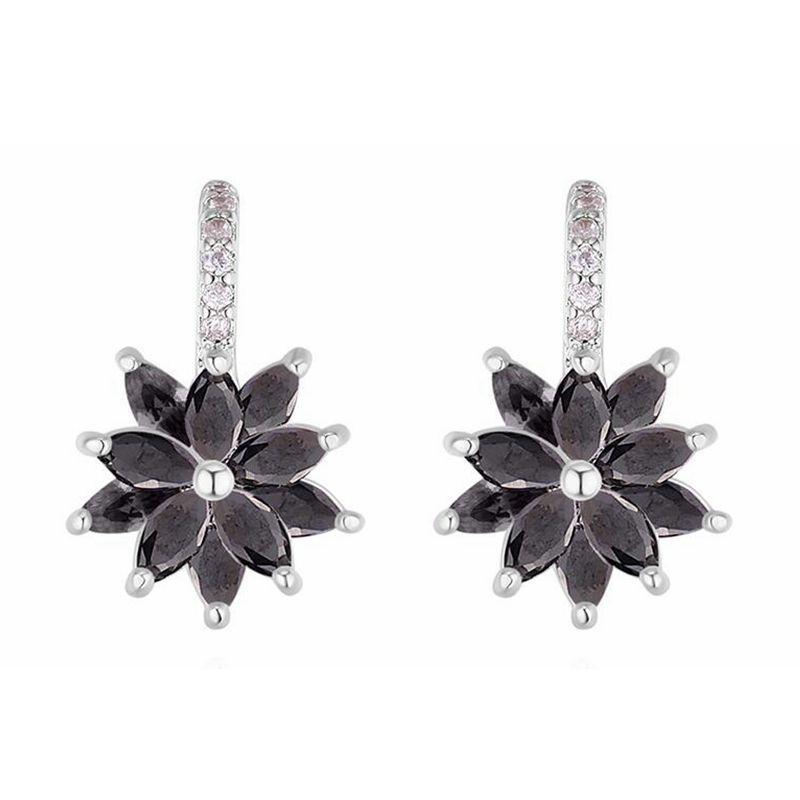 56b15f99f S925 Silver Needle Dropping Earrings--Frost Flower for Women Hot ...