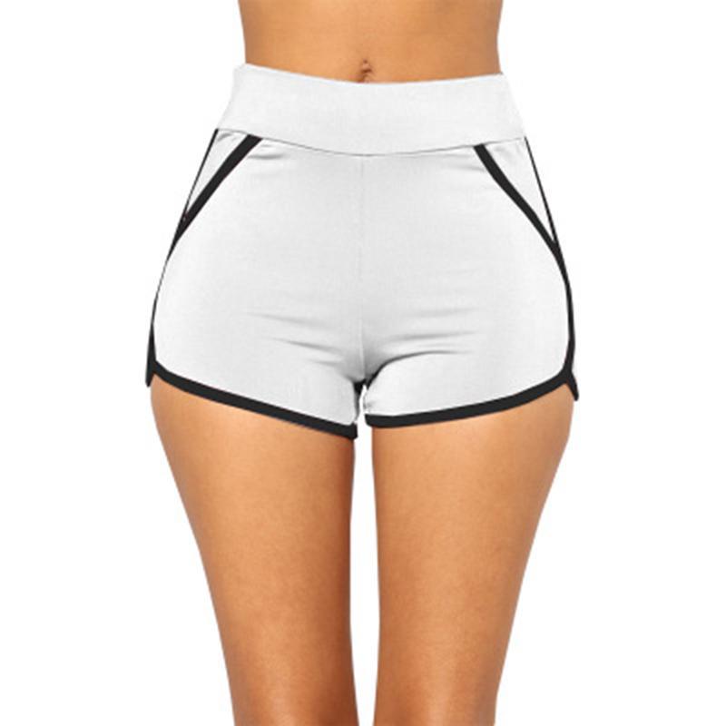 c9412b6a0 Compre Esportes Das Mulheres Yoga Shorts Treino De Fitness Correndo Esporte  Shorts De Algodão De Cintura Alta Ginásio De Ciclismo Esporte Curto Feminino  ...