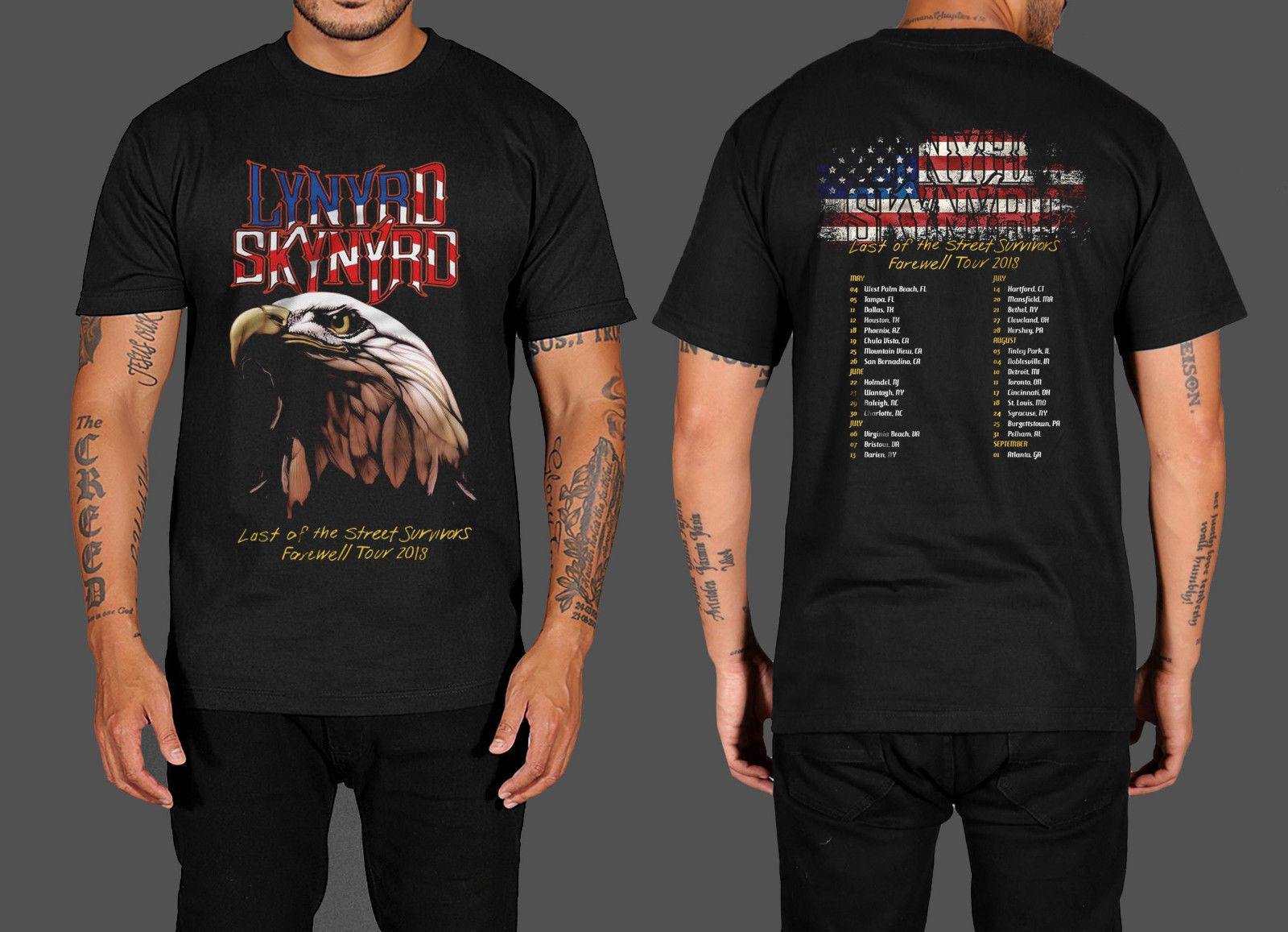 New Popular Lynyrd Skynyrd New Farewell Tour 2018 Black T Shirt