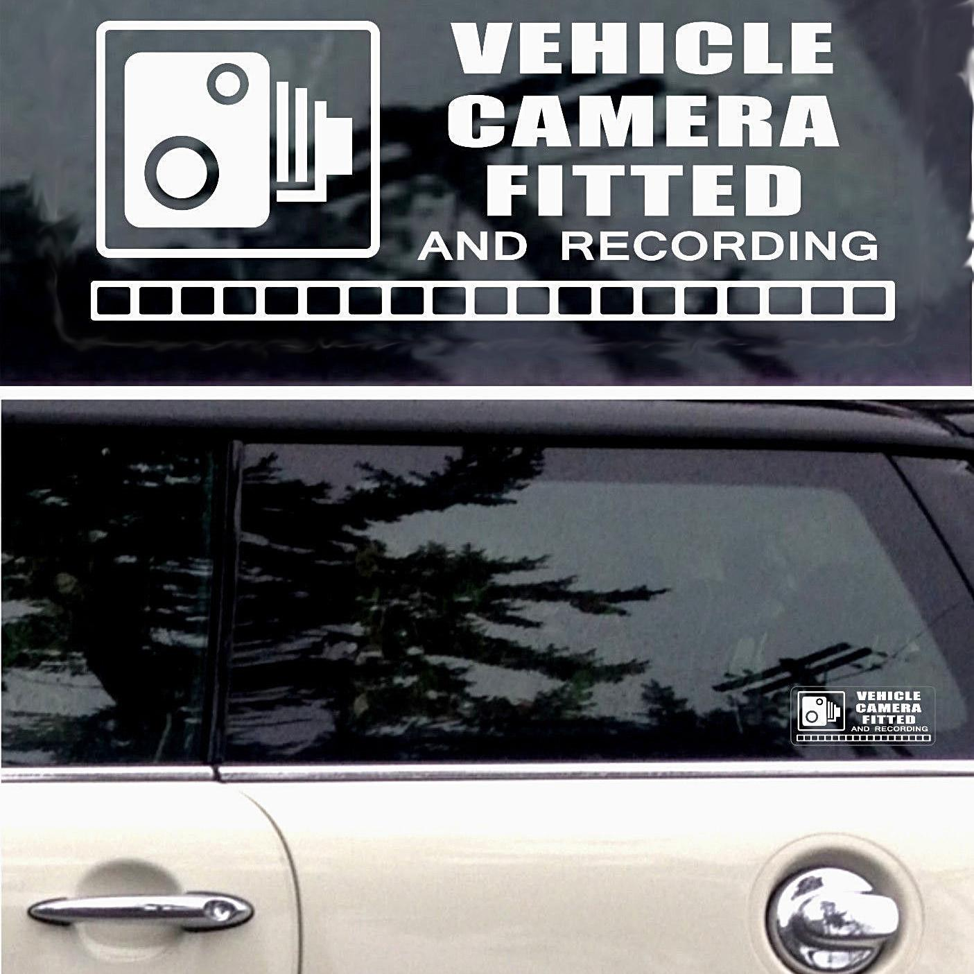 2019 mirror warning stickers cctv video camera recording car vehicle window sign vinyl car wrap decor decals from xymy777 3 92 dhgate com