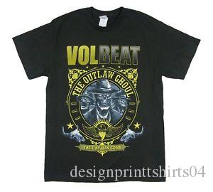 Volbeat O Dia Chegou Fora Da Lei Ghoul BlaCustom T Shirt Novo Official Band Merch