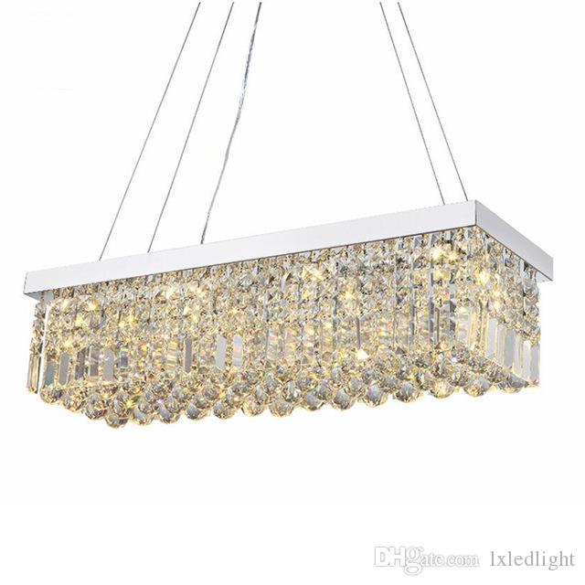 NUEVO Modern Crystal Chandelier para el comedor Rectangle Ceiling Chandelier Manggic