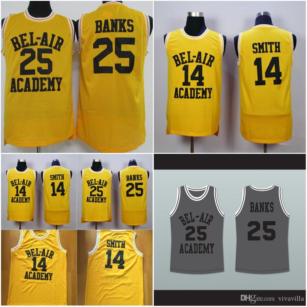 b75783e86d3 2019 The Fresh Prince #14 Will Smith Bel Air Academy Movie Version #25  Carlton Banks Basketball Jersey Embroidered Stitched Orange Grey From  Vivavilla, ...