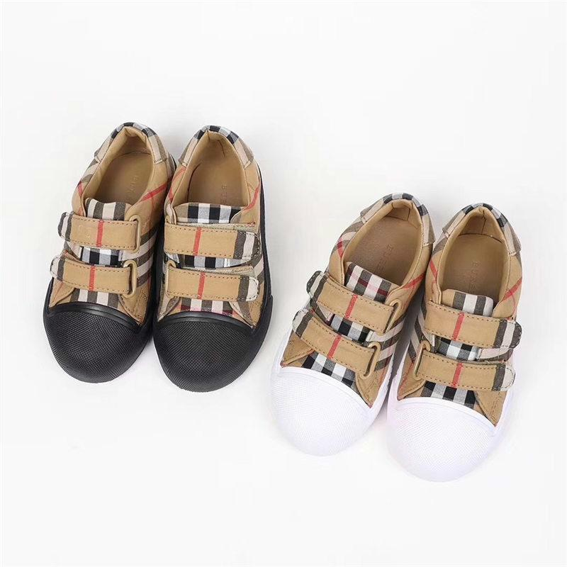 0d8a2fc2fe Children Kids Designer Shoes Casual Boys And Girls Classic Plaid Canvas Sneakers  Children s Running Shoes Comfortable Athletic Shoes