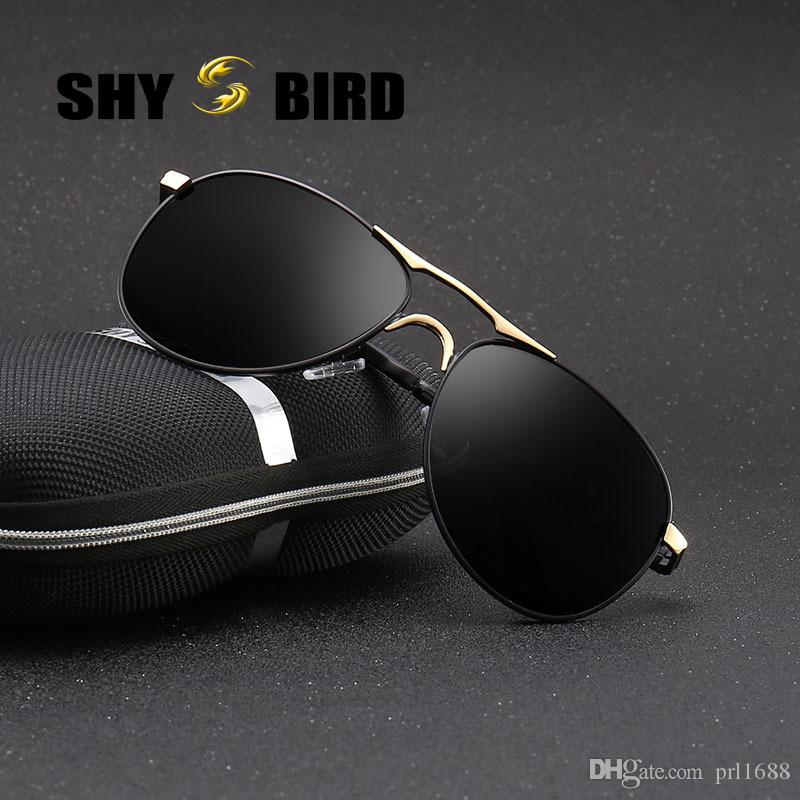 49ed94539ad SHYBIRD New Polarized Lens Pilot Sunglasses For Men Brand Designer ...
