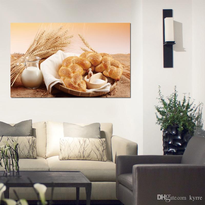 bread roll sesamo milk jug flour Canvas Arts Immagini Immagini a parete stampate su tela