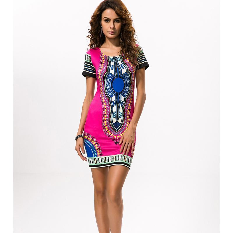 55a3b62635d 2019 African Print Dresses For Women Africa Clothing Traditional Dashiki  Dresses Fashion Designs Plus Size Dress Female 2XL 3XL Evening Gowns Cheap  Prom ...
