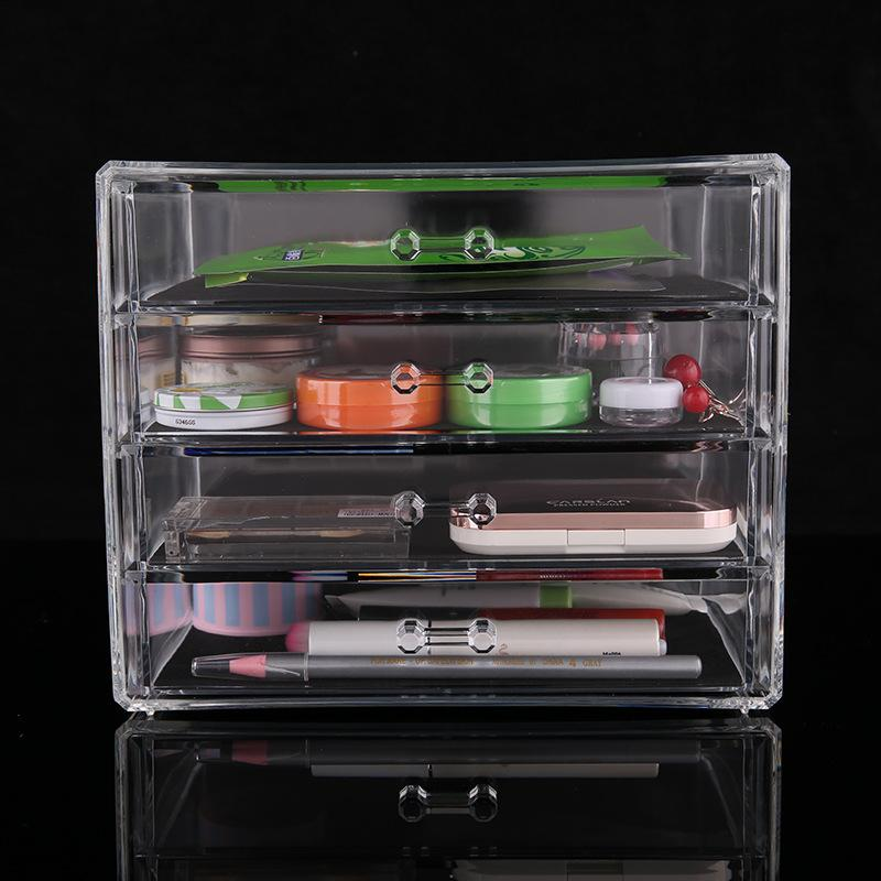 Acrylic Jewelry Storage Box Jewelry Organzier Make Up Storage Case Box 4 Drawers Makeup Organizer Cosmetic Clear
