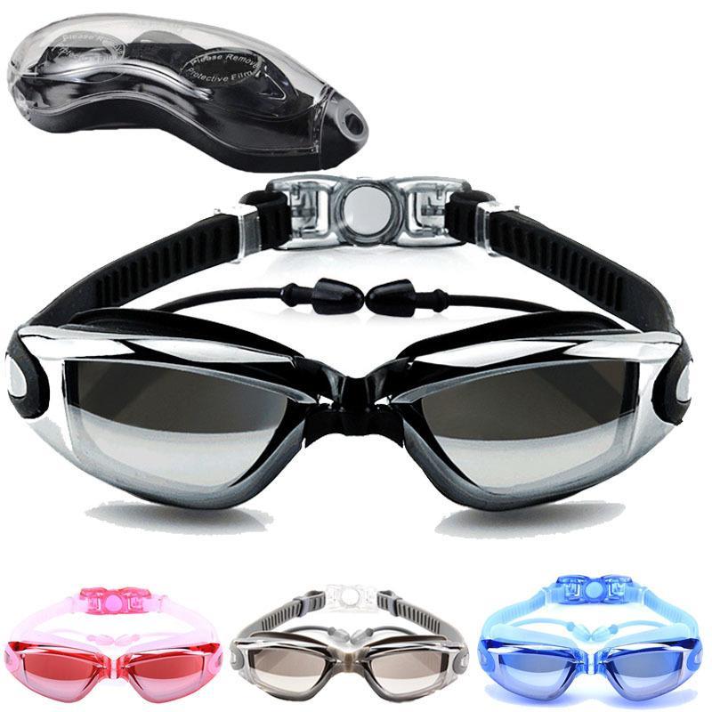 b7382f86ea6b 2019 Diopter Swimming Googles Anti Fog Waterproof Swim Eyewear For ...