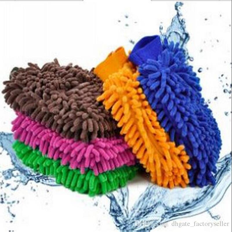9 colors Microfiber Snow Neil fiber high density car wash mitt car wash gloves towel cleaning gloves LX5752