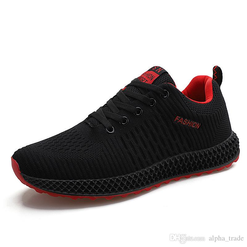 ac0c1cdb4538 2019 Spring And Summer New Men S Casual Shoes Fly Woven Breathable Shoes  Korean Students Male Trend Wild Casual Men S Shoes Red Shoes Footwear From  ...