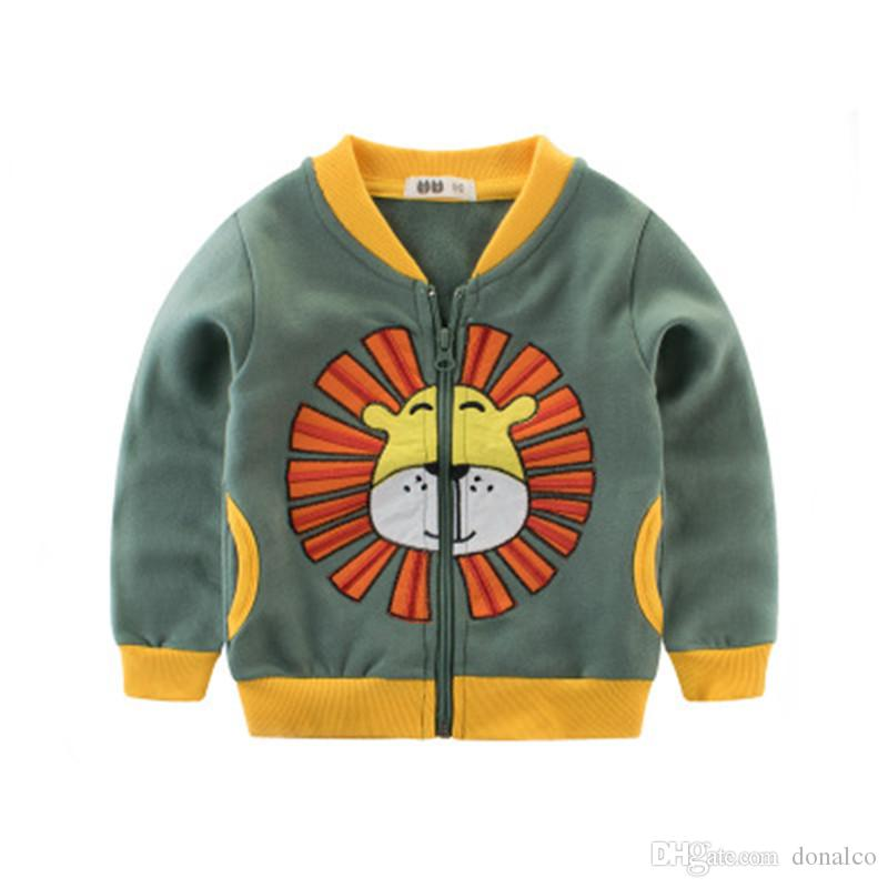 a500f7eb1 GODODOMAOYI 2019 Cartoon Lion Jackets Baby Boys Clothes Warm Boys ...