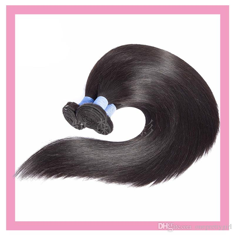 Brazilian Virgin Hair Extensions 3 Bundles Silky Straight Human Hair Wholesale Straight Cheap Hair Wefts 8-30inch Natural Color