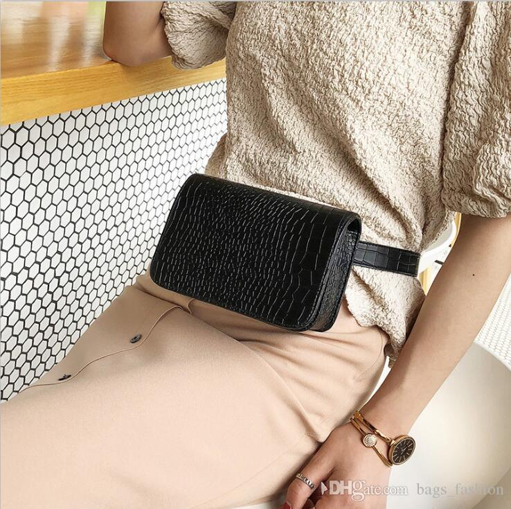 0a3e5d7e38e1 Vintage Waist Bag Women Alligator PU Leather Belt Bag Waist Pack Travel  Belt Wallets Fanny Bags Ladies Fit 5.5 inches phones Free Shipping