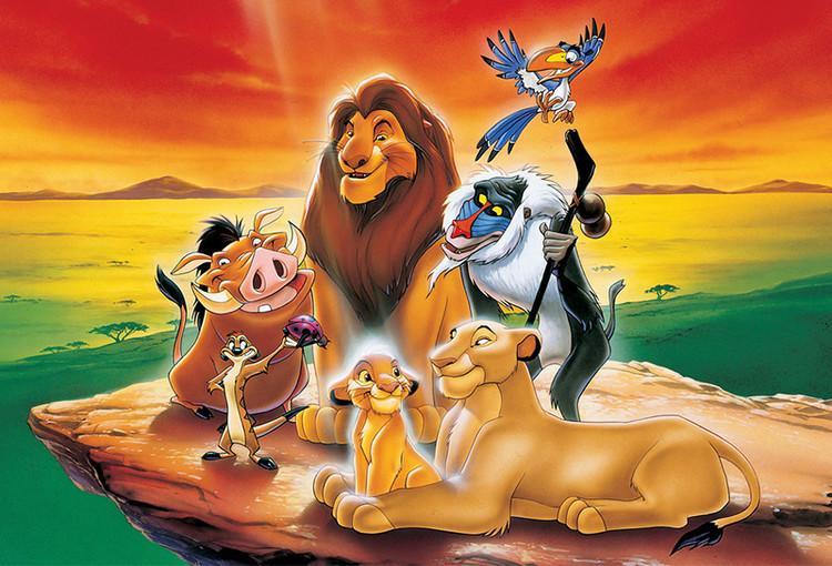 Roi Lion Simba Rafiki Timon Rock Joyeux Anniversaire Fête Bébé Enfant Dessin Animé Photo Fond Photographie Décors Vinyle De Qualité
