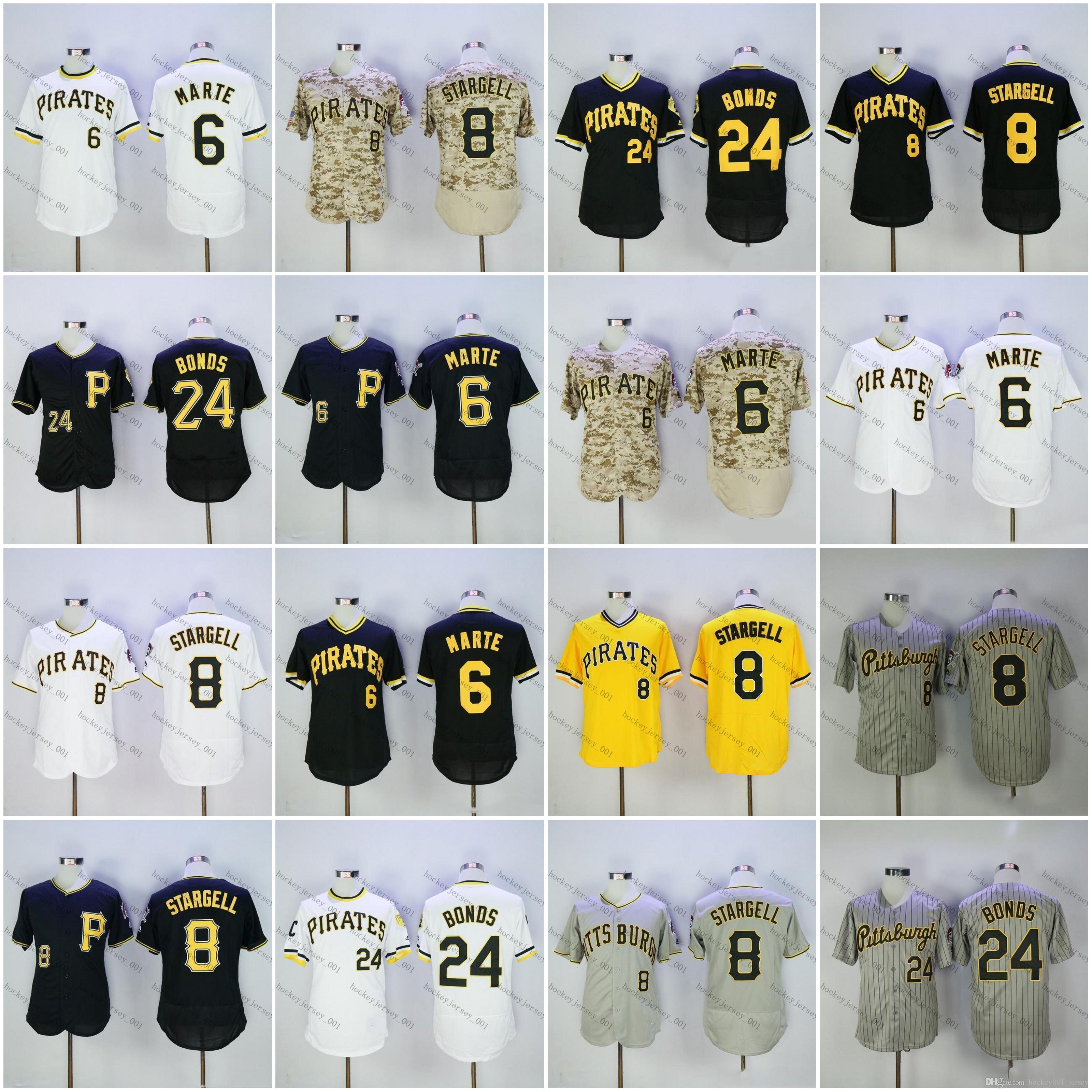 8c74ed1ee 2019 Custom Pirates Jersey 24 Barry Bonds 8 Willie Stargell 6 Starling  Marte Pittsburgh Jersey Stitched Baseball Jersey Stitched From  Hockey001 jersey