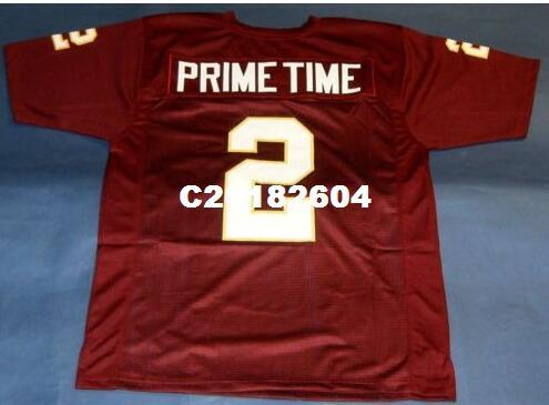 sports shoes 3fadc 5be5b Men SEMINOLES FLORIDA STATE #2 DEION SANDERS College Jersey size s-4XL or  custom any name or number jersey