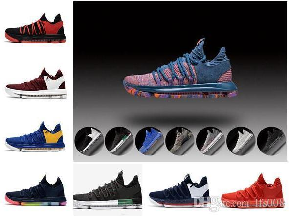 0ff8947412f6 Zoom Kevin Durant KD 10 Elite KDX Opening Night Peach PK80 Red Velvet  Triple Black Wolf Gray Men Shoes Sports Sneakers Clogs For Women Shoe Boots  From ...