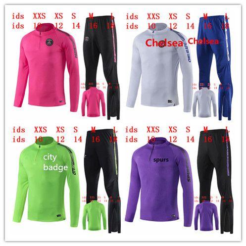 764b2fd00 2019 New Psg Tracksuit Suit Kids Chándal De Fútbol City Soccer Training Suit  2019/20 Kids Kits 19/20 Youth Kids Training Suit Boys SPORTSWEAR From ...