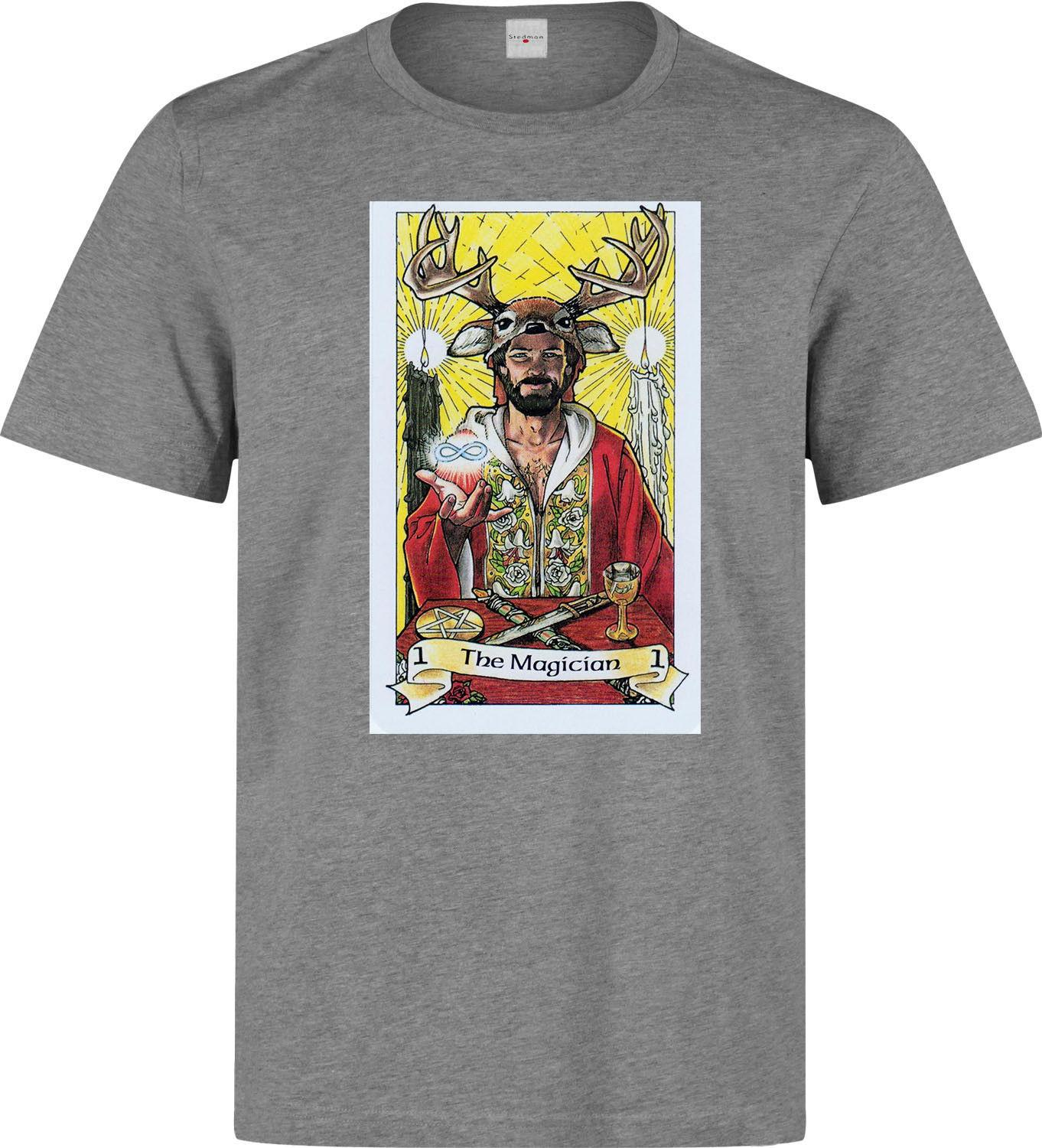 The Magician Tarot Card Art Logo Men s (woman s available) grey t shirt Men  Women Unisex Fashion tshirt Free Shipping black