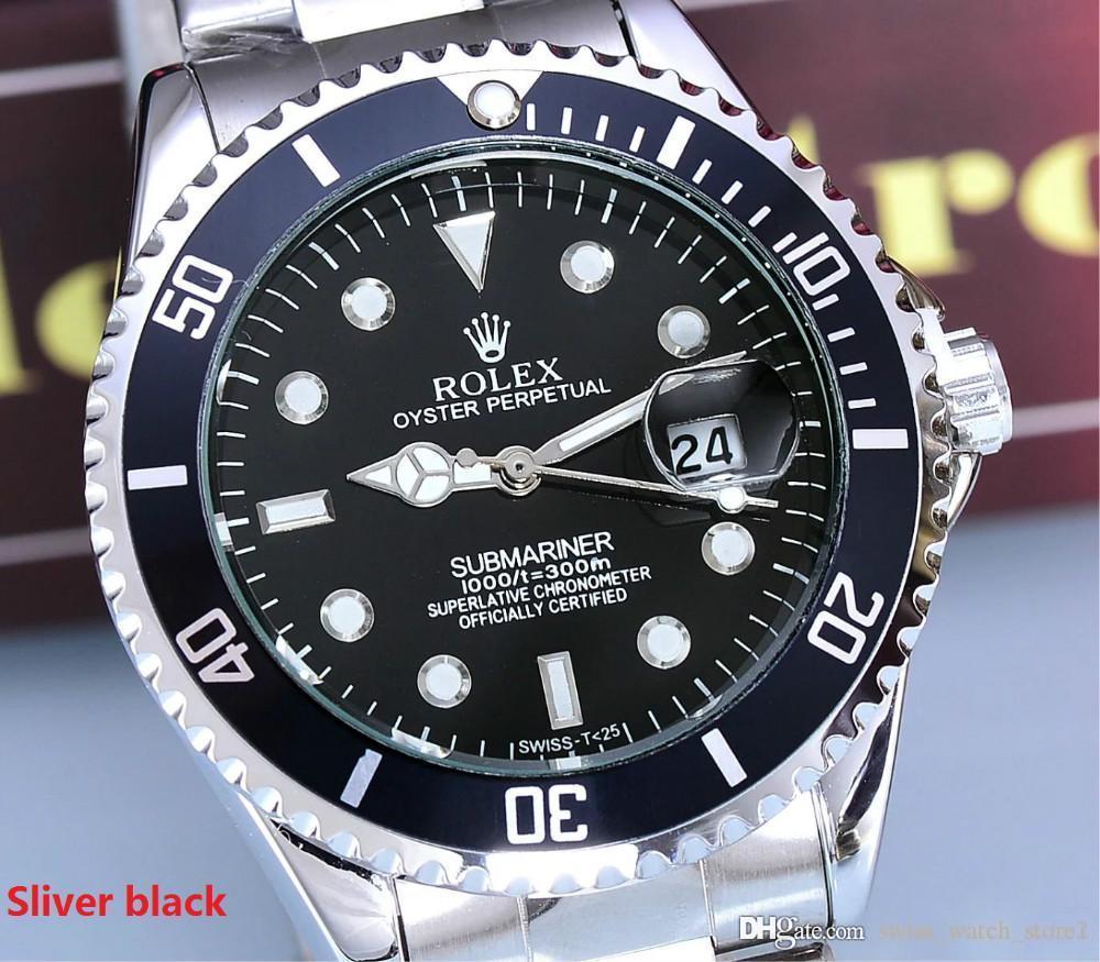 934548c6a68 Compre 2001 Famosa Marca De Lujo Superior 40mm Relojes Rolex Reloj Para  Hombre Fecha Auto Banda De Acero Principal Reloj De Oro Para Hombre 1   A   19.29 Del ...